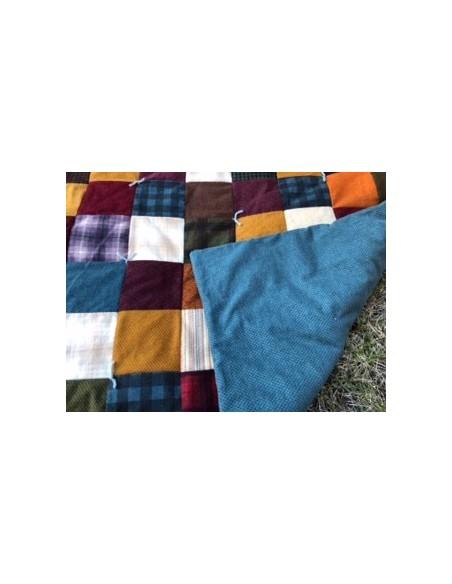 Colcha franela Kit Cozy patchwork quilt de la colección franelas