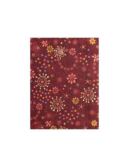 Tela patchwork roja circulos de la colección My Back Porche de One Sister