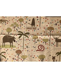 Tela patchwork Panel de la colección The Zoo Anni Downs