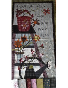 Tela panel patchwork de la colección My Back Porch de One Sister