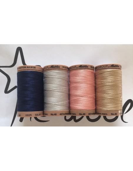 Pack Hilos 100% algodón Mettler Silk Finish Cotton