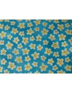 Tela turquesa estrellas de mar amarillas purpurina Mermaid Wishes glitter brillante Northcott
