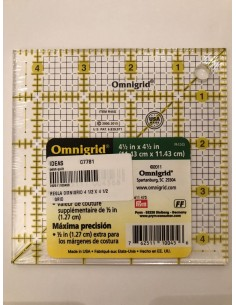 "Regla de patchwork Omnigrid 4"" x 4"""