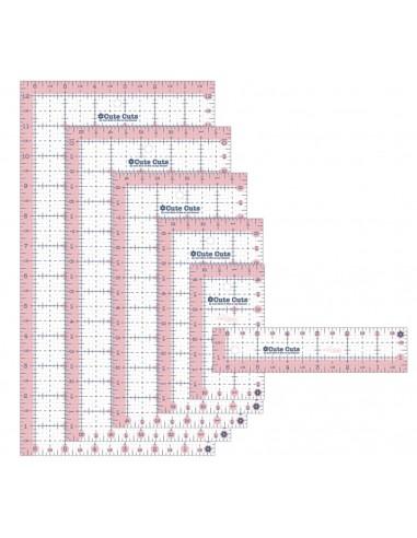 Pack de 6 reglas patchwork pulgadas rectangulares de Lori Holt rosas