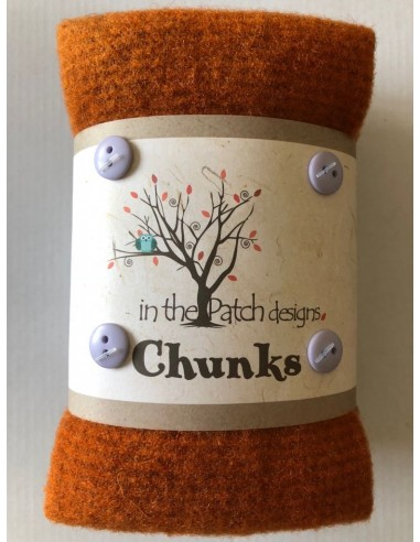 Chunks 5 telas lana afieltrada patchwork Critter