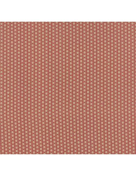 Tela patchwork roja con flores pequeñas, Jardín de Versailles de French General