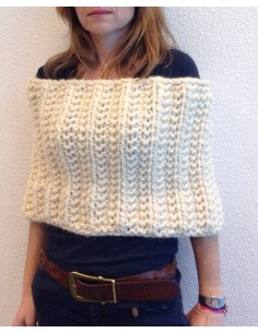 Chic Tippet - kit tejer lana peruana