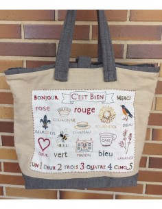 Kit bolso sampler bordado French General