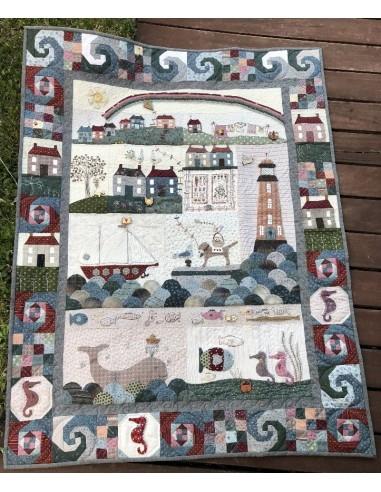 Seaside Town patrón y botones de Lynette Anderson
