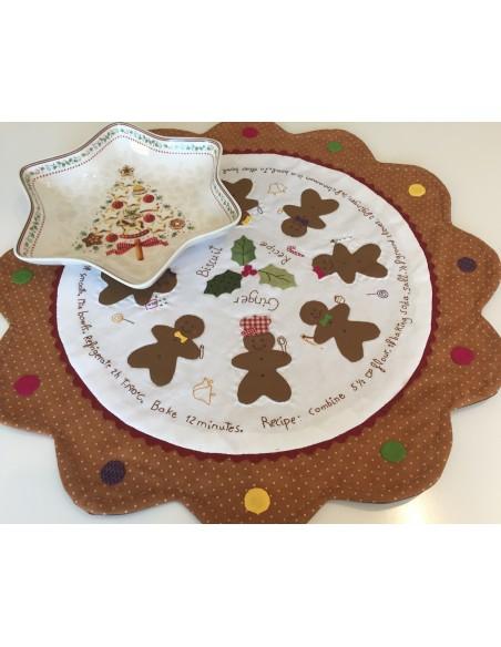 Patrón patchwork centro de mesa Candy Christmas