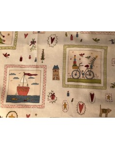 Tela patchwork Panel beis Home for Christmas Anni Downs
