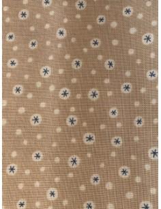 Tela patchwork Anni Downs tostado claro estrellas azules Home for Christmas