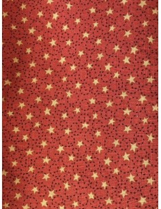 Tela patchwork Anni Downs roja estrellas Home for Christmas