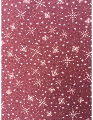 Tela patchwork roja estrellas navidad beis navidad Frosty Friends Lynette Anderson