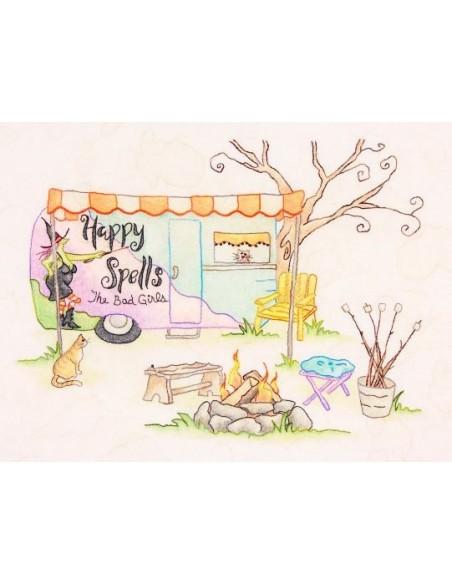 Patrón 5 Happy Spells. Salem Quilt Guild´s Quilt Campout Crabapple
