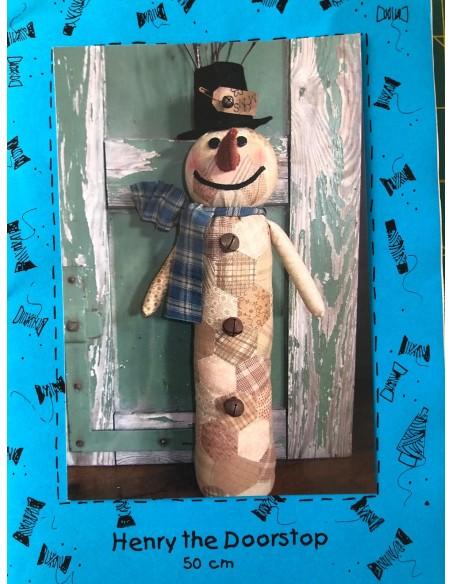 Patrón Henry sujeta puertas muñeco de nieve Bobbins