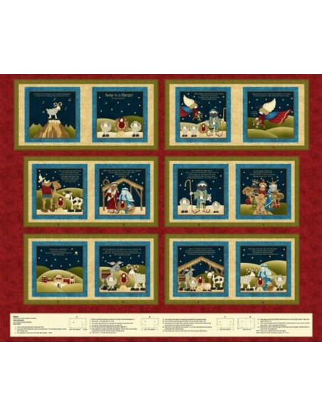 Panel libro navidad Away in a manger de Leanne Anderson of The Whole Country Caboodle