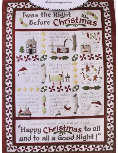 Patrón para realizar el Quilt Twas The Night Before Christmas