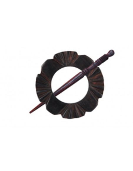 Broche marrón para chal de KniPro