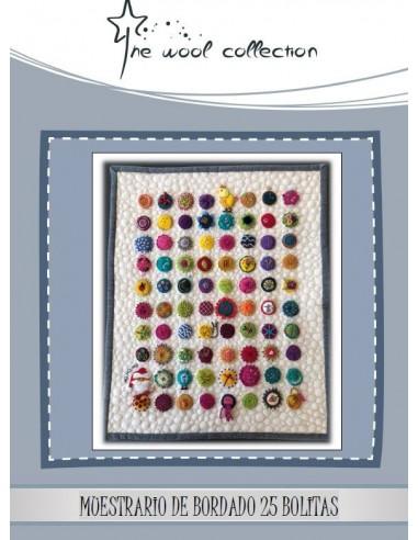 kit clases de bordado con muestrario de 25 bolitas de Sue Spargo