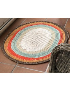 Kit alfombra Jelly roll rug: Jelly roll + guata 50 yardas + patrón