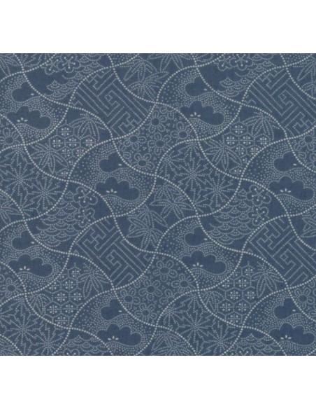 Tela patchwork boro azul vaquero curvas