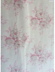 Tela Tilda Flores grandes rosa