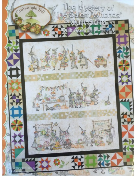 Kit Completo The Mystery of The Salem Witches Quilt Guild Panel