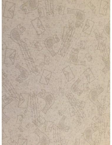 Tela base patchwork pájaros y cartas Lynette Anderson
