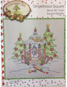 Town Square Gazebo bloque 5 Gingerbread Square Crab Apple Hill bordado