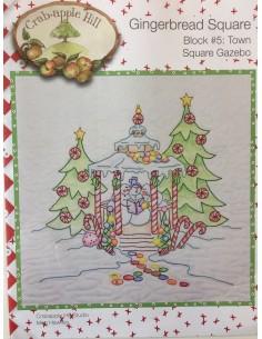 Town Square Gazebo bloque 5 Gingerbread Square Crab Apple Hill bordado