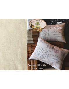 Kit Vintage Postcard cojín con tela Crabapple Hill