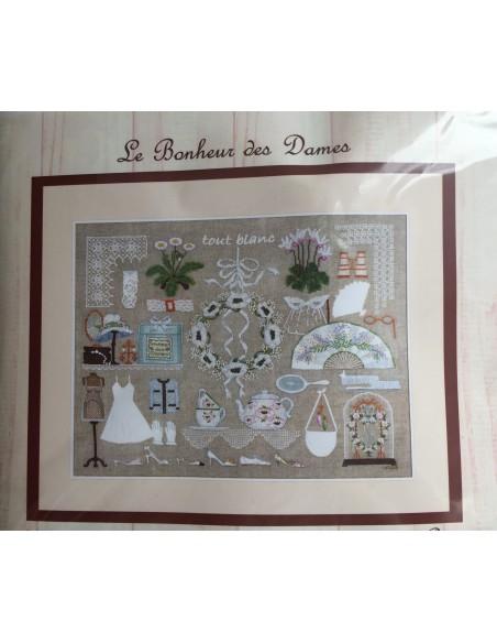 Kit punto de cruz y petit point Le Bonheur des Dames Tout Blanc