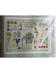 Kit punto de cruz y petit point Le Bonheur des Dames Printemps