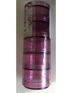 Cajas de plástico apilables en rosa 50mm