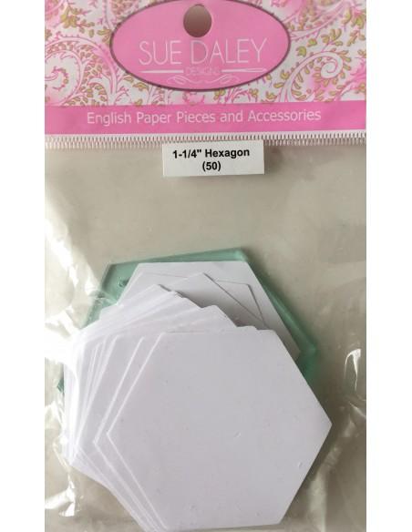 """Paquete hexágonos Sue Daley 11/4"""""""
