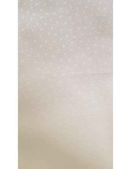 Tela patchwork blanco con estrellas