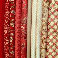 Nueva colección de telas de French General La Rose Rouge. Pack 10 telas para regalar estas navidades. #thewoolcollection #patchwork   #patchworkquilt #handmade #costuracreativa #telasbonitas #telascostura #telasalgodon #quilt #quilting #acolchado #telaselegantes #frenchgeneralfabrics #regalosnavidad #regalos #queregalar