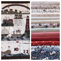 Panel y pack de 13 telas a la venta en www.thewoolcollection.com de @lynetteandersondesigns   #patchwork #patchworkquilt #lynetteandersondesigns #shiptoshore #seasidetown #panelestela #acolchado #panelesacolchado#telasbinitas #quilt #quiltinfantil #regalosunicos #regalosoriginales #regalosinfantiles #regalosjuveniles #lecienfabrics #lynetteandersondesigns