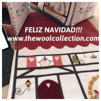 FELIZ NAVIDAD!!! #thewoolcollection   #patchwork #elizabethbradley #mediopunto #puntodecruz #tapestry #cañamazo #tejer #coser #pinturasobretela #hobbies #manualidades #costura #feliznavidad